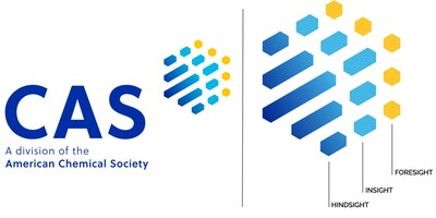 The new CAS logo whose three colors represent the hindsight, insight and foresight that are foundational to scientific discovery.