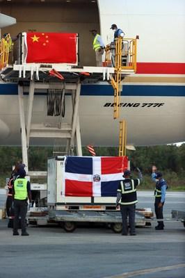 China Eastern lleva vacunas a la República Dominicana. (PRNewsfoto/China Eastern Airlines)