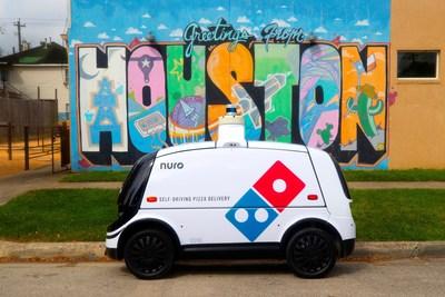 Desde esta semana, Domino's y Nuro lanzan servicio autónomo de entrega de pizzas a domicilio en Houston.