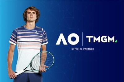TMGM patrocina a la reconocida estrella del tenis Alexander Zverev para el Abierto de Australia. Crédito de la foto: ATP y Getty Images. (PRNewsfoto/TMGM)