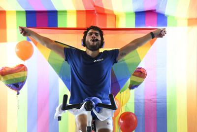 Blued se asoció con los studios de fitness Síclo y Commando para el evento Pride Ride en el mes del Orgullo.