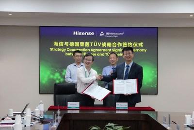 Hisense y TÜV Rheinland firmaron un acuerdo de cooperación estratégica (PRNewsfoto/Hisense)